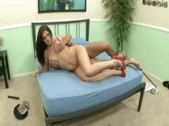 Angel is lustful as hell and making her guy feel fine
