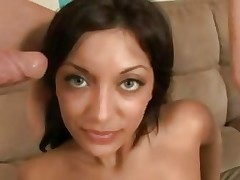 Audrianna Girl acquires her face sprayed with warm cum