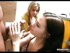 Brunette hair BrAndi Belle Gets Her Face Cummed After A Nasty Hawt Tugjob