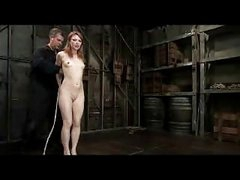 Redhead Gal Getting Bondaged Slit Fingered By Slavemaster In The Dungeon