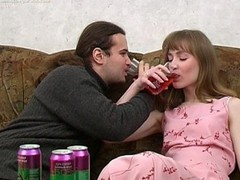 Ivan and Nelly are enjoying wine coolers that are made specifically to acquire a floozy drunk and the honey drinks down as much as that chap gives her. The greater amount this chab pours the greater amount that honey drinks and when this chab peels a banana for her to eat this honey can't assist but oblige his naughty desires. When a honey chews a phallic fruit in such a lusty manner it's bound to acquire a chap all lustful and aroused. A little greater amount liquor and this guy's willing to make his move with this hot slut. That Hottie gives him head and then this chap pounds her fur pie missionary and doggy style. It's great drunk hardcore sex for sure