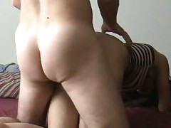 I can not ever take my eyes off my wife's butt. I like fucking her doggy style so I can look at it. What do you think of her butt? I think it is just the right shape and size. I know it makes my jock hard each time I see her arse naked.
