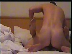 Nice girl's skillful face hole works on her lover's beefy pecker, licking and sucking it very keenly and acquires fucked ardently.