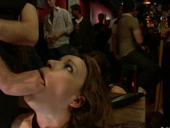 Sexy pretty girl fucked and dominated in real bondage!