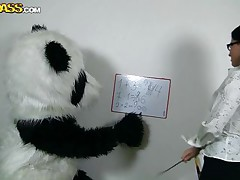 Panda's need education likewise but they need a precious fuck even more! Luckily for this particularly panda his teacher is a hottie and sexually concupiscent too. The math lesson ends but the fucking one just begins as that hot dark brown takes off her pants and picks her favourite sex toy. Do u like math or would u rather see this