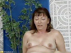 This older woman was looking for a swim, but a more excellent exercise to loosen u up is riding a cock, which is exactly what she's doing. She slides down every inch of her man's dick, loving the feeling of being fucked. She gets off to ride him normally, and this fellow thrusts up hard and fast in her hirsute cunt.