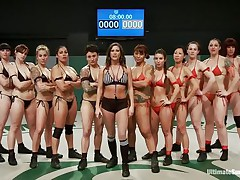 A lot of sluts and every of one wants to win! Well, it will be a very lengthy and hard match but it worth seeing it. These strumpets are hawt and merciless, soon the game starts and things receive intense. Should we start betting one who will win and what the losers will have to receive through?