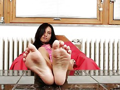 Sharon likes sucking, not quite all especially her toes. Watch this hawt brunette hair with lengthy black hair and sexually excited face as that babe sucks her hawt feet and shows us what that babe is capable of, do u think that that babe would engulf 'em with even more pleasure if that babe had some semen on them?