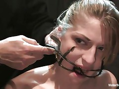 Mouth opened with a specific device Tawni Ryden is getting her daily dose of submission using a simple bowl with water and a rope that's keeping her hands and feet tied. She has such pink adorable lips and a concupiscent face that makes u wish to she her humiliated and in the simplest yet efficient ways possible.