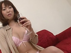 Pretty Oriental charms with wild blowbang to acquire unfathomable anal