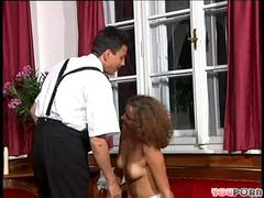 German sweetheart takes a big cock