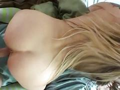 Bootylicious blond in socks gets nailed doggy style