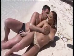Sex on a beach with his exceedingly hot lover