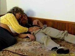 Crazy old mom fucked hard sex