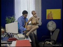 Hawt Brunette Secretary Fucks Her Boss In The Office