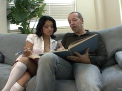 Horny Schoolgirl Andrea Kelly Bonks Her Stepdad's Big Jock