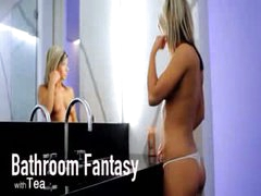 Bathroom fantasy of unbelievable model