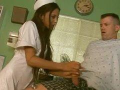 Diminutive nurse Alexis Love hardcore sex