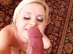 Kelly Surfer gets her face drenched with sexy semen